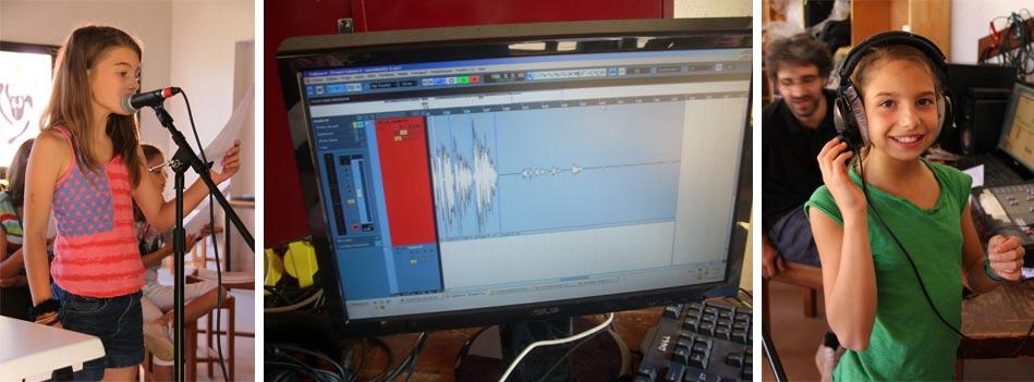 atelier musique - enregistrement des voix