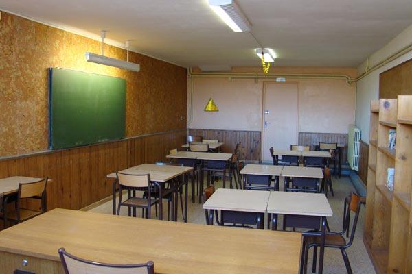classe découverte audiovisuelle dans les Hautes Alpes - salle de classe