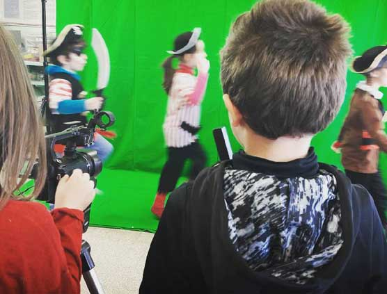 atelier cinéma enfant fond vert